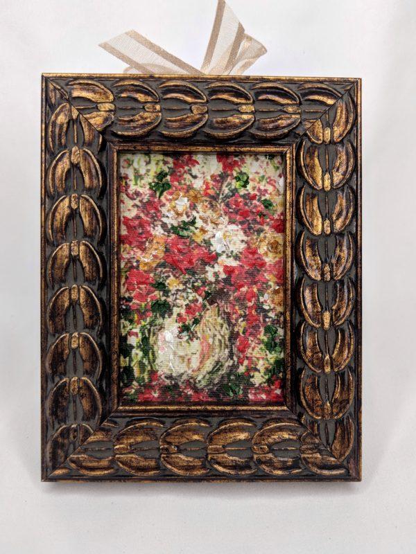 Red Floral Bouquet Miniature Ornament